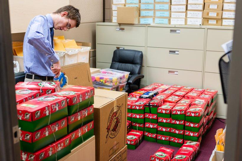 Bringing Hope with Christmas Shoeboxes