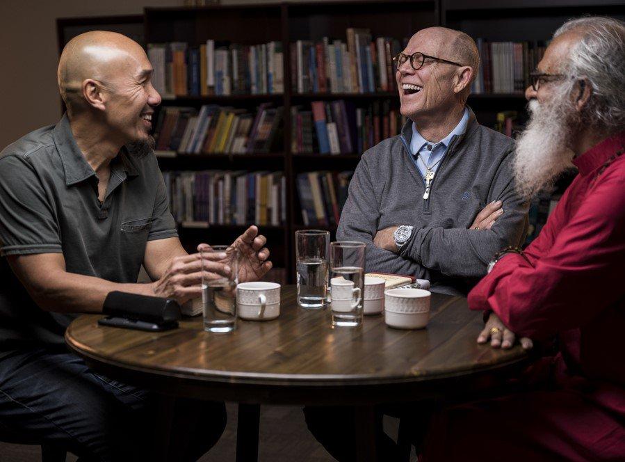Francis Chan, Dr. K.P. Yohannan, Hank Hanegraaff Confront Church.jpg