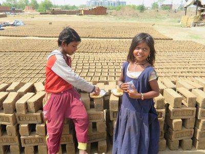 Brick factory children
